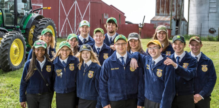 Photo of group of FFA children